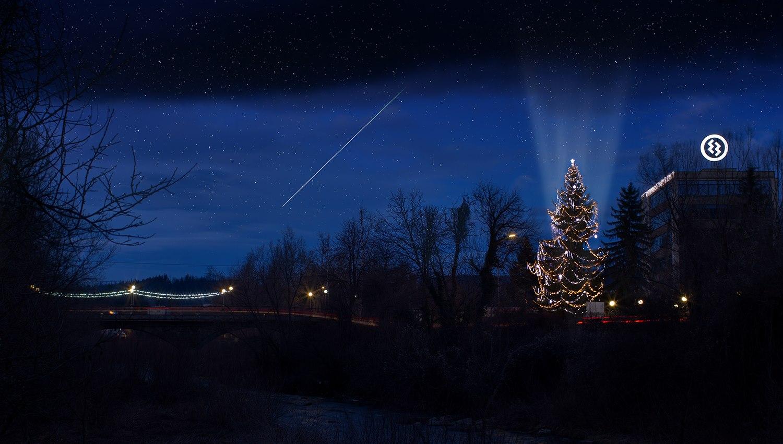 Троянската елха, която на 04.12.2018г. по Нова ТВ бе обявено, че е висока 24.60 метра